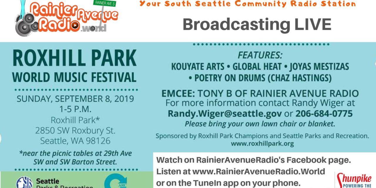 FREE Roxhill Park World Music Festival is this Sunday, Sept. 8