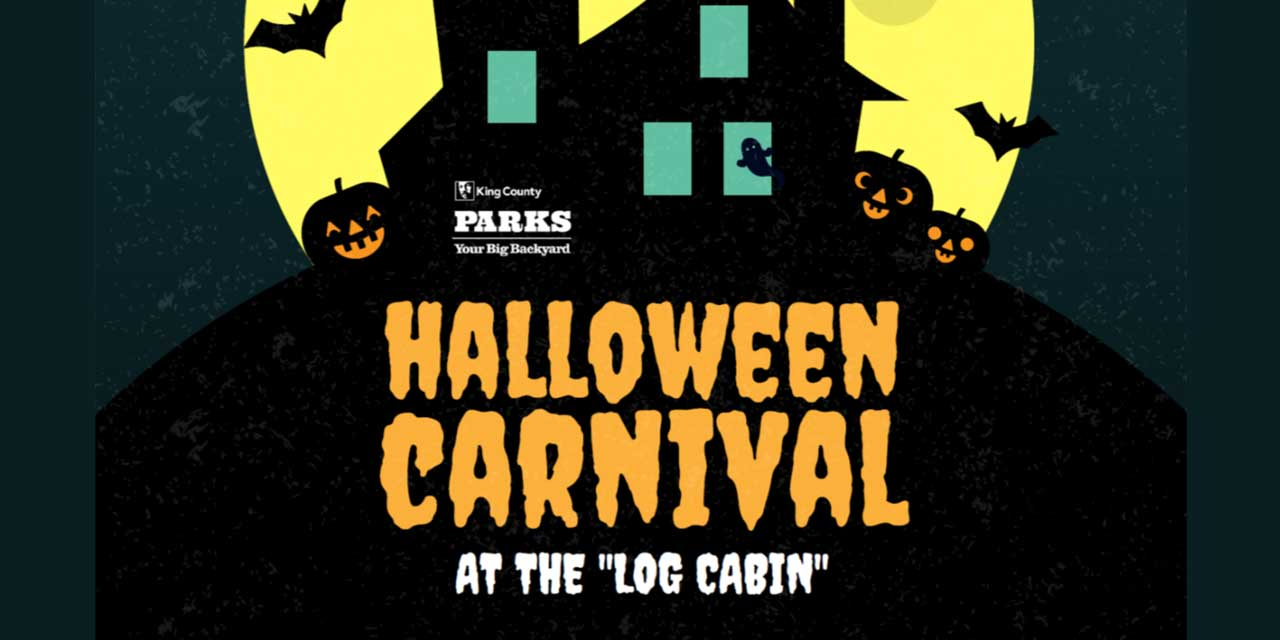 King County Parks Family Halloween Carnival will be Saturday, Oct. 26