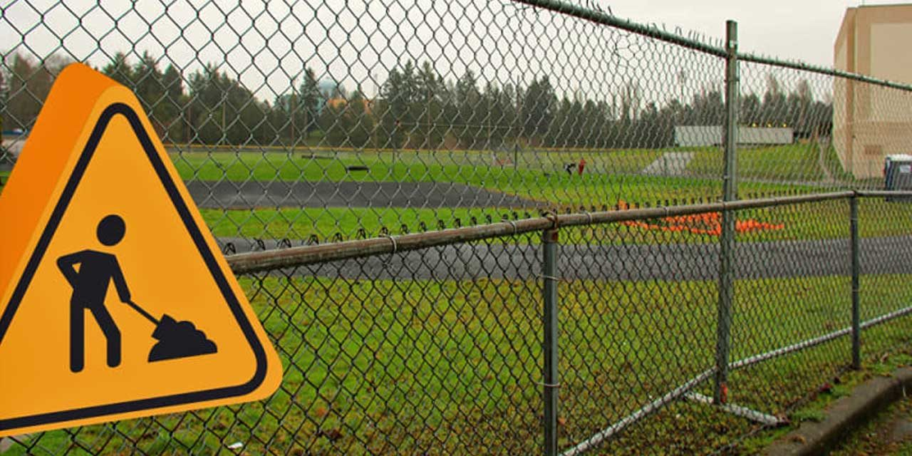 Work begins on new synthetic turf field at Evergreen High School
