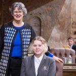 Evergreen High School student Maddy Rice serves as Page for State Rep. Eileen Cody
