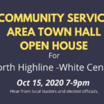 Virtual Community Service Area Town Hall for North Highline is this Thursday night, Oct. 15
