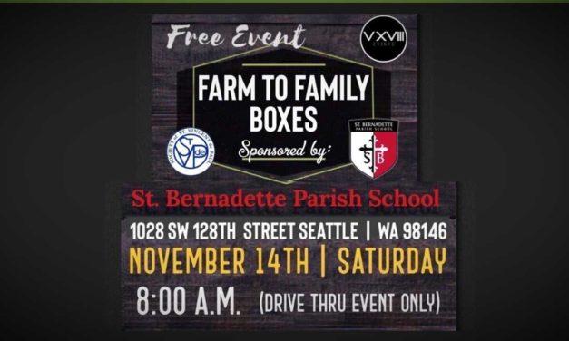 St. Bernadette School hosting free Food Distribution event this Saturday, Nov. 14