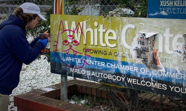 Local Eagle Scouts replace damaged 'Welcome to White Center' signs
