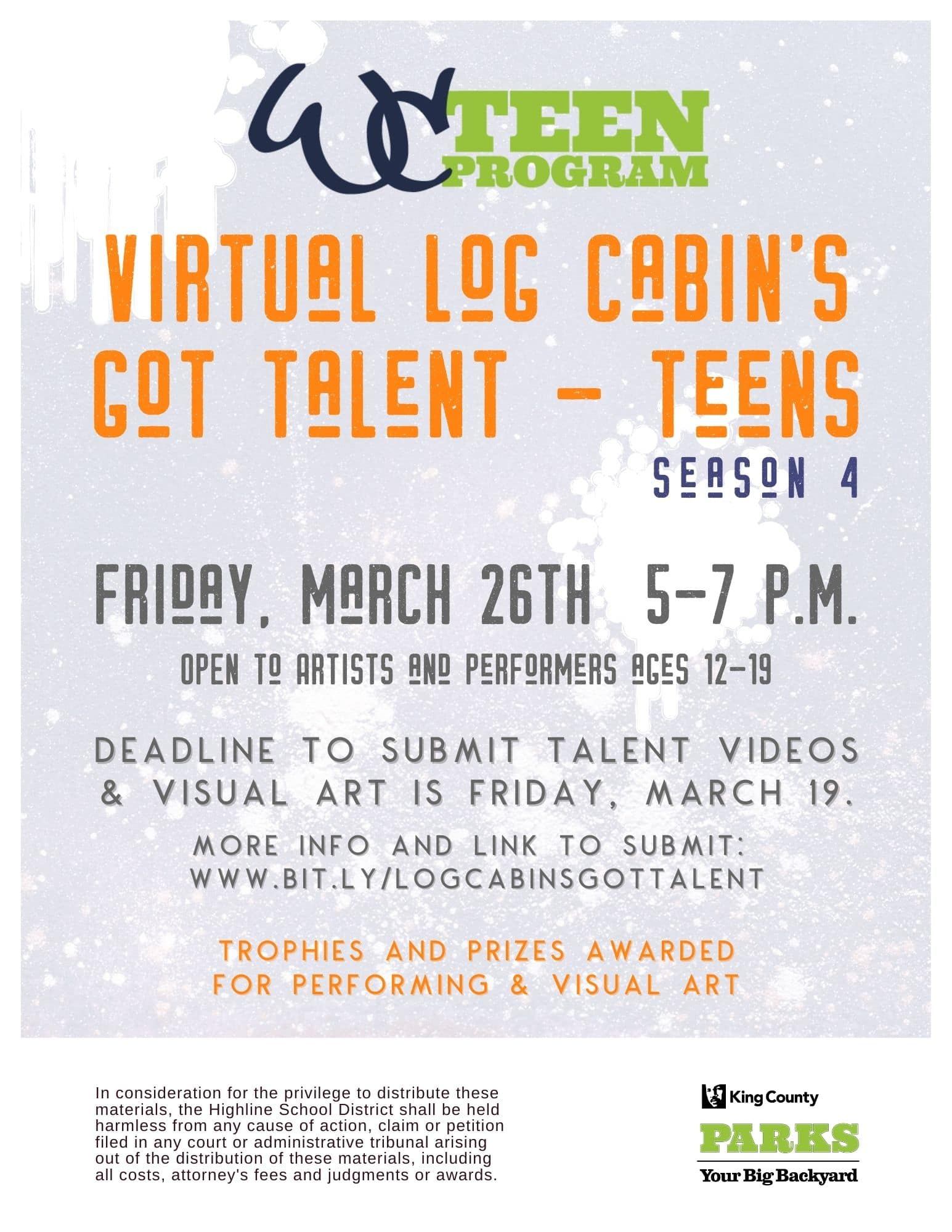 Virtual 'Log Cabin's Got Talent' will be Friday, Mar. 26; deadline to enter is Mar. 19 1