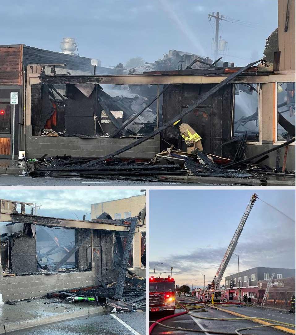 3-alarm fire burns The Locker Room in White Center Monday morning 3